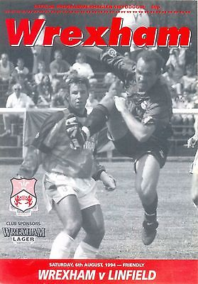 WREXHAM v LINFIELD Pre season friendly 6 August 1994