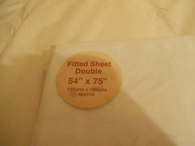 Brand new Pure White Double size Fitted sheet