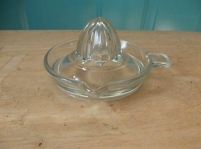 Vintage Clear Glass Tab Handled Juicer Reamer