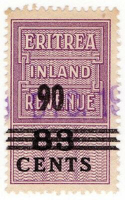 (I.B) BOIC (Eritrea) Revenue : Duty Stamp 90c on 83c OP