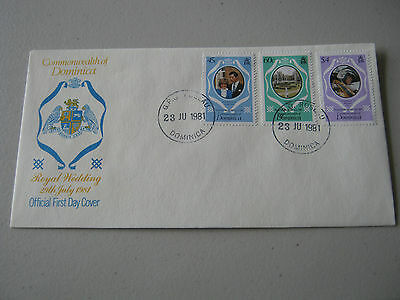 FDC - 1981 - Dominica - Royal Wedding - 45c, 60c, $4 stamps (1790)