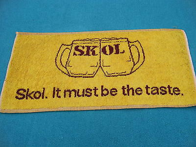 Skol Lager -  Old Style Bar Towel -    - New & Unused - Man Cave Essential !!