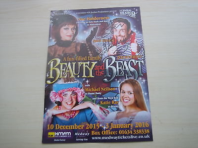 Stevi Ritchie (2015/16 Chatham Panto flyer) hand signed RARE *FREE POST*
