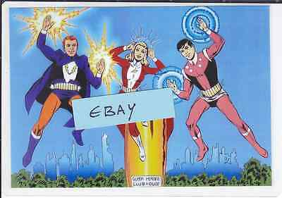 Photo Art Card THE LEGION OF SUPER-HEROES By Jim Mooney - Clearance Line £1.00