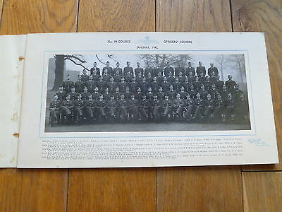 Raf 1942 Photograph Of Officers, No 99 Course Officers School
