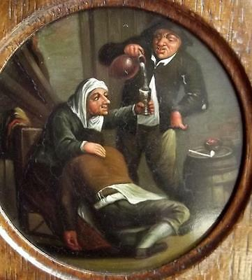 VAN OSTADE Antique Dutch Master Oil Painting TOPERS IN A TAVERN