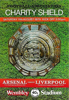 1979 FA CHARITY SHIELD PROGRAMME ARSENAL v LIVERPOOL Aug 1979