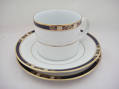 Lovely Fairmont Fine China Tea Set Trio in a design called 'Sapphire' (9455)
