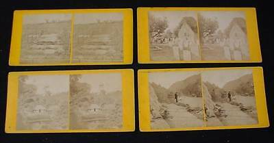 Stereoview Card Lot ALLOWAY KIRK NEAR AYR LOCK KATRINE TOMBS OF SCOTTISH CHIEFS