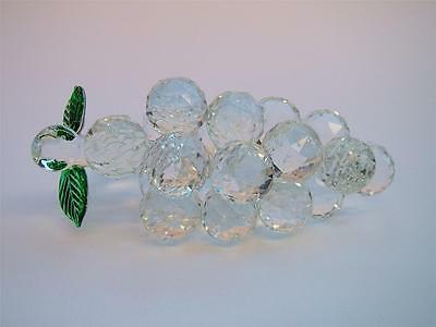 BUNCH of GRAPES Crystal Cut Glass Fruit Ornament