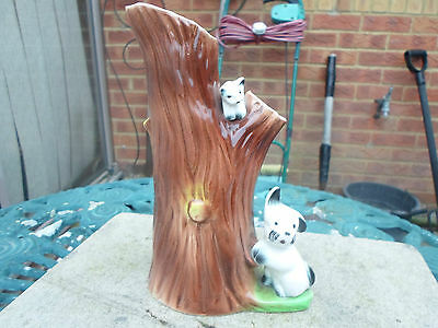 Eastgate Pottery Charming Tree Vase with Dog and Cat