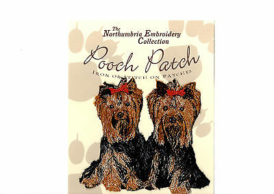 Yorkshire Terriers  EMBROIDERED  Pooch Patch
