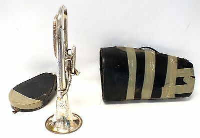 Vintage BOOSEY AND HAWKES Regent Tenor Horn With Case And Mouthpiece   - I09