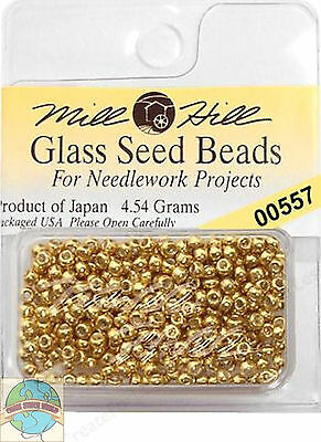 Mill Hill Glass Seed Beads 4.54g Gold #00557