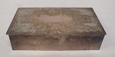 """VINERS """"Chased"""" Vintage Alpha Plate Box  - A36"""