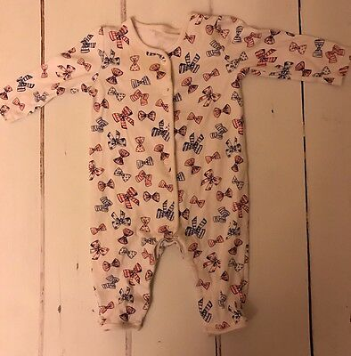 George 3:6 Months Girls Bow White Romper Suit