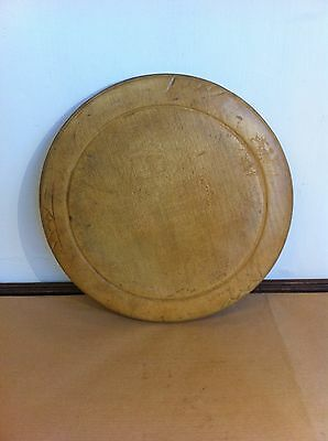 ANTIQUE CARVED SYCAMORE BREAD BOARD 11.2 inches