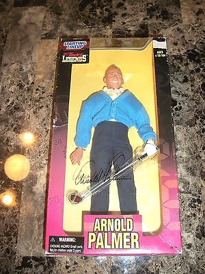 """Arnold Palmer Rare Authentic Hand Signed 12"""" Starting Lineup Golf Action Figure"""