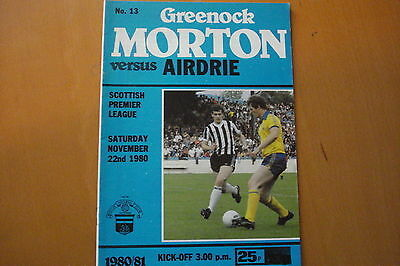 Greenock Morton V Airdrieonians (Airdrie)                               22/11/80