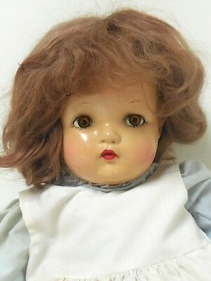 """VINTAGE MADAME ALEXANDER BABY DOLL ~ 19"""" TALL ~ Composition w/Cloth Body w/Crier"""