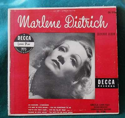 "MARLENE DIETRICH - Two 33 rpm Albums of Songs - 10"" from 1950's, 12"" from 1970's"