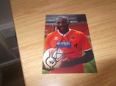 Blackpool fc Ishmael Miller signed 6x4 action photo