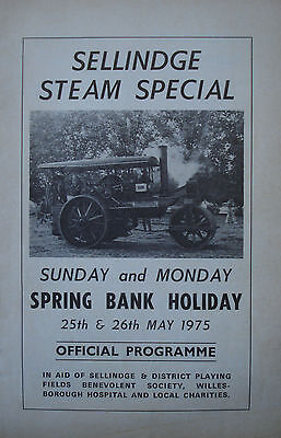 Sellinge Steam Special programme (May 1975)
