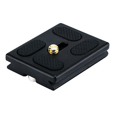 "Aluminum Quick Release Plate 1/4""-20 Camera Screw for Tripod with Anti-slip Pad"