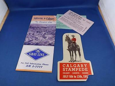Sightseeing In Vcalgar The Stampede City Brochure The Gray Line & Tickets Label