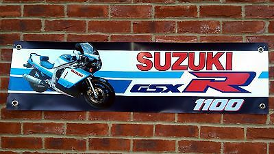Br68 Suzuki Gsxr1100G 1986 Slab Side Banner Workshop Sign