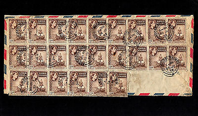 Gold Coast 1955 Qe Ii Cover With 30 Stamps To England With Accra Cds Postmarks