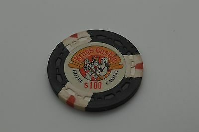 Kings Castle $100 Casino Chip Lake Tahoe Nevada Sm-Crown Mold 1970 FREE SHIPPING