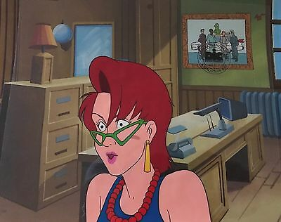 Real Ghostbusters Original Animation Production Art Cel DIC SEAL