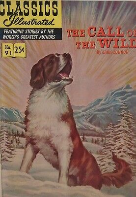CLASSICS ILLUSTRATED #91 VG, HRN #169, The Call of the Wild, Gilberton 1970