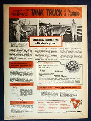 Dated Original 1956 Conoco Ad With Recipe by Mrs George Porter Richey Montana