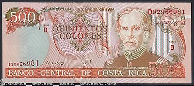 Costa Rica  - 1994 500 Colones Banknote - 6/7/94 Series D .Uncirculated