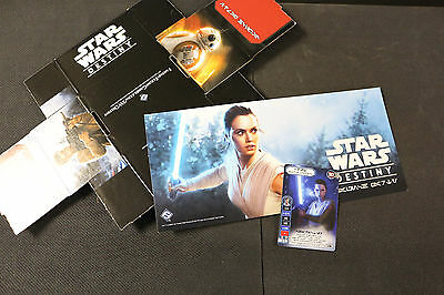 Star Wars Destiny Rey full art promo deck box and print Pre Release Promo Alt