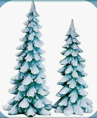 Dept 56 Snow Village ~ Wintergreen Pines Set of 2 ~ Mint In Box 52661