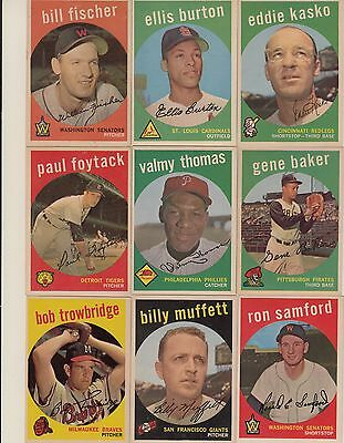 Topps 1959 Baseball Cards-Select from a list
