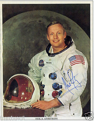 NEIL ARMSTRONG Signed Photograph - Apollo XI First Man To Walk on Moon preprint