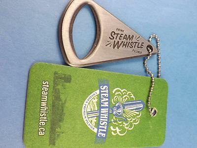 Steam Whistle Pilsner Beer Bottle Opener 2012 & Tag Canada Brewery Collector