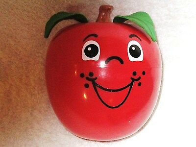 Vintage Fisher Price 1972 Happy Apple Chime Musical  Baby Crib Toy Roly Poly