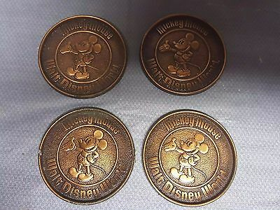 Set of 1950 Copper Mickey Mouse Beverage Coasters  Disney VERY RARE!