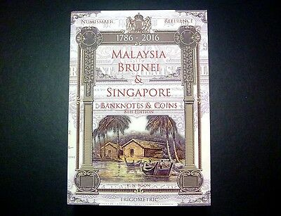 Malaysia Singapore Brunei Paper money Banknotes & Coins Catalog book (1786-2016)