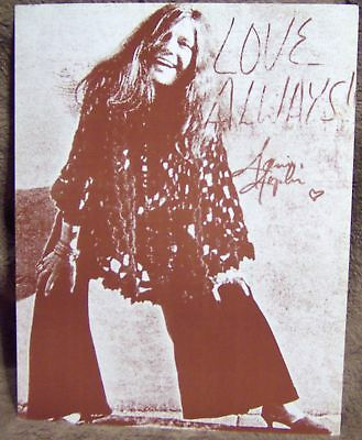 """Janis Joplin Love Always Sepia Picture Poster 11""""x14"""" New"""