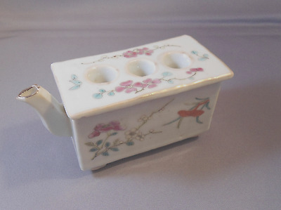 Chinese Famille Rose Brush Washer Holder Water Dropper Marked
