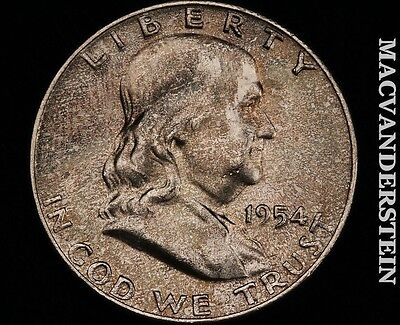 1954-D Franklin Half Dollar- Gem Brilliant Uncirculated !! #p4205