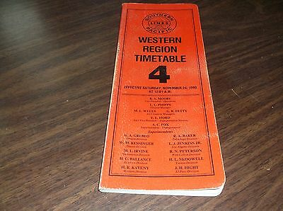 November 1990 Southern Pacific Western Region Employee Timetable #4