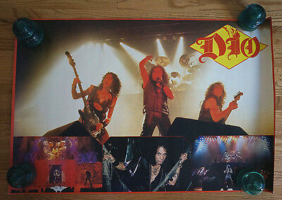 "Vintage Official DIO 36"" X 24"" Heavy Metal Music Poster Collage Ronnie James"