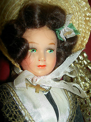 Gorgeous 9 inch tall, labeled French Toulouse, jointed celluloid costume doll